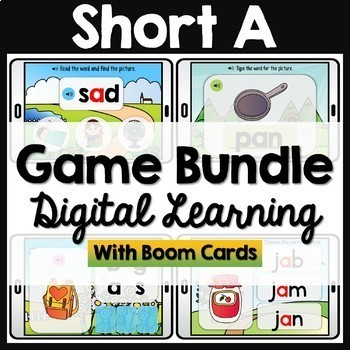CVC Words Boom Cards Bundle (480 digital cards)