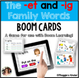 CVC Boom Cards for et and ig Words