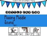 CVC Bottle Cap Fun (Missing Middle Vowels)