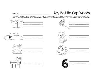 CVC Bottle Cap Words