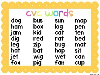 CVC Build It Center: All Short Vowels