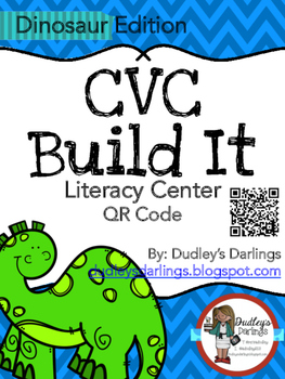 CVC Build It, Write It, Scan It (Dinosaur Edition)