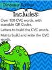 CVC Build It, Write It, Scan It (Dinosaur Edition)