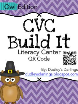CVC Build It, Write It, Scan It (Owl Edition)