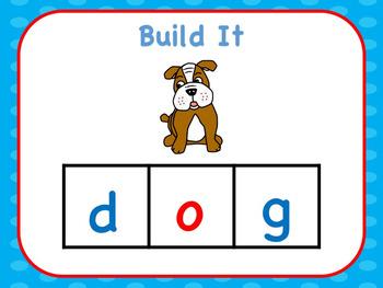 CVC Build The Word Short o