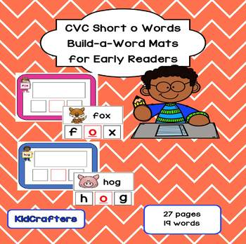CVC Build-a-Word Mats - short o