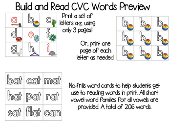 CVC Build and Read Pocket Chart Center