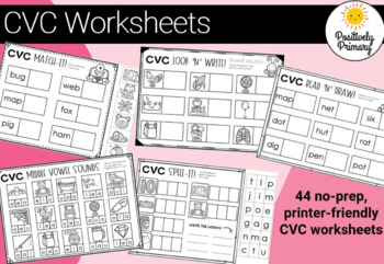 #crazybundledeals CVC Bundle -184 different clip cards + 44 diff worksheets