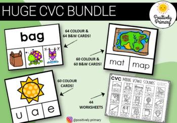 CVC Bundle -184 different clip cards + 44 diff worksheets #spedgivesthanks