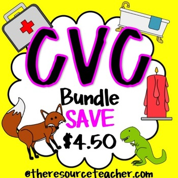 CVC Bundle Pack (adapted books and worksheets)