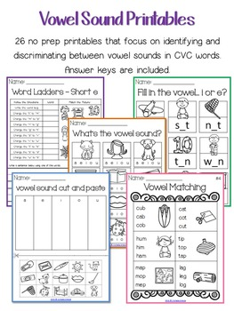 CVC Bundle: Word Work and Printables