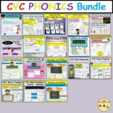 CVC Bundle Worksheets Activities PowerPoint Onset and Rime