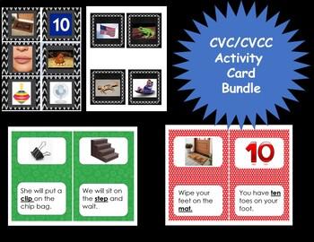 CVC/CCVC/CVCC  Activity Card Bundle
