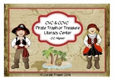 CVC & CCVC Pirate Trash or Treasure Literacy Center C/C Aligned