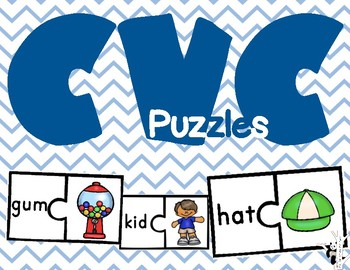 CVC, CCVC, and Long Vowel Puzzles