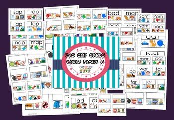 CVC CLIP CARDS (WORD FAMILY A)