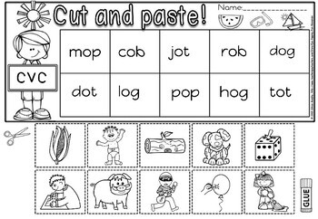CVC CUT AND PASTE PLUS EXIT TICKETS- SHORT O
