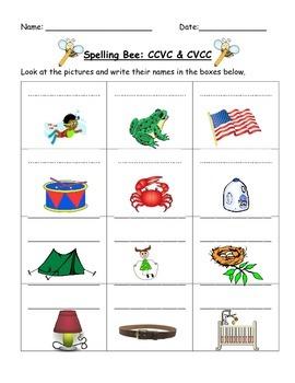 CVC, CVCC, CCVC Practice Worksheet