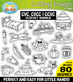 CVC, CVCC, CCVC Words Cutting Images Clipart Bundle {Zip-A-Dee-Doo-Dah Designs}
