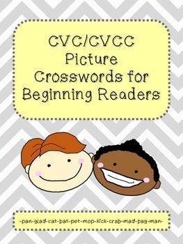 CVC & CVCC Picture Crossword Puzzles
