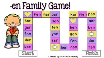 CVC & CVCC Word Family Board Games PLUS Editable Board Game Templates
