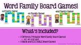 CVC & CVCC Word Family Board Games PLUS Editable Board Gam