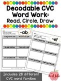 CVC CVCC Short Vowel Word Family Read Circle Draw for Comprehension Word Work