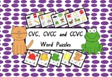 CVC, CVCC and CCVC Word Puzzles - Phonics Game