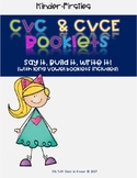 CVC & CVCE Booklets (Say it, Build it, Write it)