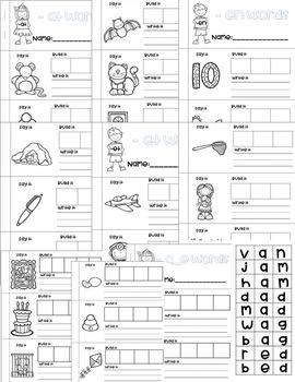 CVC & CVCE Booklets (Say it, Build it, Write it)