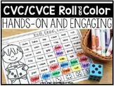 CVC/CVCE Roll and Color Word Mats