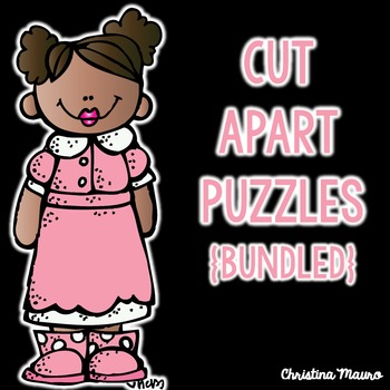 CVC, CVCe, Digraphs, Blends - Cut Apart Puzzles {Bundled}