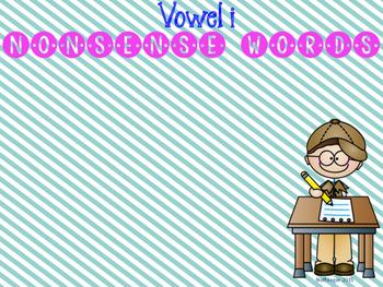 CVC CVCe Vowel I Word Sort- Real or Nonsense