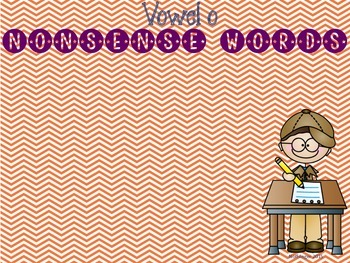 CVC CVCe Vowel O Word Sort- Real or Nonsense