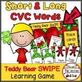 CVC & CVCe Word Game - Teddy Bear SWIPE {EDITABLE}
