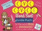 CVC CVCe Word Sort- Real or Nonsense Bundle Pack