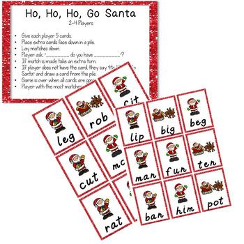 CVC Card Games- Christmas Edition