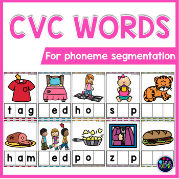 CVC Activities - Blending Cards for Phoneme Segmentation