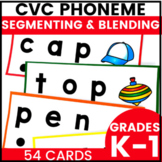 Phoneme Blending and Segmenting Cards with CVC Words
