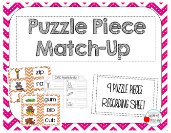 CVC Centers Mini-Bundle (Task Cards, Spin a Word and Puzzle Piece Match-Up)