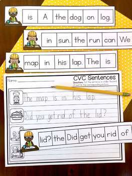 Kindergarten Literacy Centers: CVC Words
