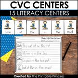 CVC Centers Kindergarten | 15 CVC Activities Included