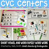 CVC Centers {Short Vowel & Word Family Centers & Word Work}