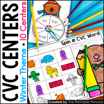 CVC Words: Centers and Activities for Winter