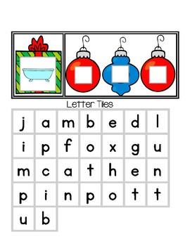 CVC Christmas Gifts - Spelling CVC Words