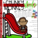 CVC Activities - Chunky Monkey Slide - Chunking Words Activities