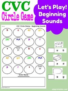 CVC Circle Game - Beginning Sounds Practice