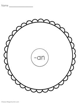 CVC Word Family Circle Maps