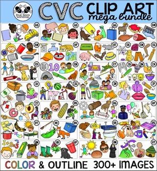 CVC Clip Art MEGA Bundle