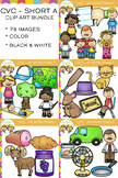 CVC Clip Art:  Short A Clip Art Bundle  Volume One {Word F